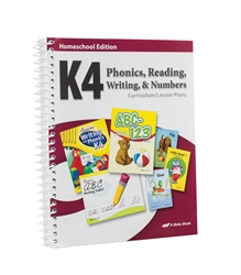 Homeschool K4 Phonics, Reading, Writing, and Numbers Curriculum Lesson Plans