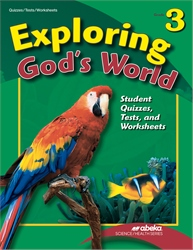 Exploring God's World Quiz, Test, and Worksheet Book