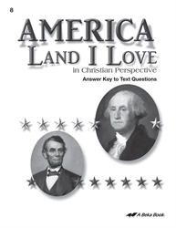 America: Land I Love Answer Key