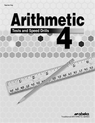 Arithmetic 4 Test and Speed Drill Key