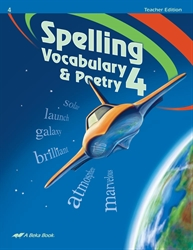 Spelling, Vocabulary,and Poetry 4 Teacher Edition