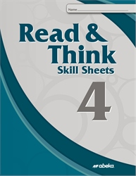 Read and Think 4 Skill Sheets