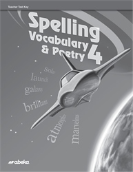 Spelling, Vocabulary, and Poetry 4 Test Key