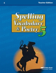 Spelling, Vocabulary, Poetry 5 Teacher Edition