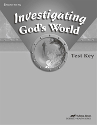 Investigating God's World Test Key