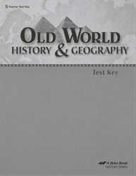 Old World History and Geography Test Key