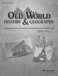 Old World History and Geography Quiz Key