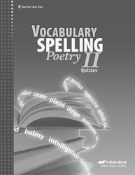 Vocabulary, Spelling, Poetry II Quiz Key