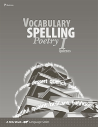 Vocabulary, Spelling, Poetry I Quiz Book