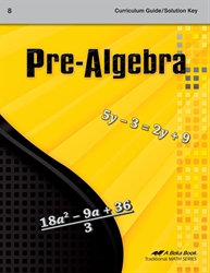 Pre-Algebra Curriculum/Solution Key