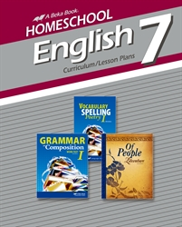 Homeschool English 7 Curriculum/Lesson Plans