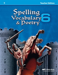 Spelling, Vocabulary, and Poetry 6 Teacher Edition
