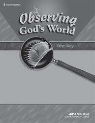Observing God's World Test Key