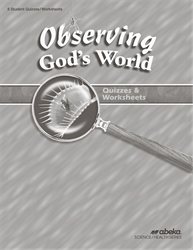 Observing God's World Quiz and Worksheet Book