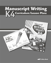 K4 Manuscript Writing Curriculum Lesson Plans