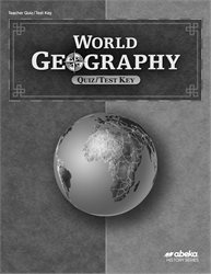 World Geography Quiz and Test Key
