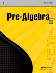 Pre-Algebra Solution Key
