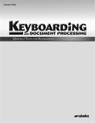 Keyboarding Quiz and Test Book