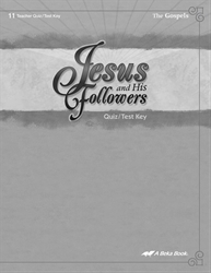 Jesus and His Followers Quiz and Test Key