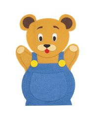 Button Bear Felt Hand Puppet