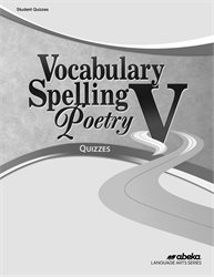 Vocabulary, Spelling, Poetry V Quiz Book