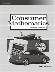 Consumer Mathematics Test and Quiz Key