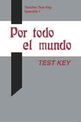 Spanish 1 Test Key