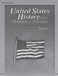 United States History: Heritage of Freedom Test Key