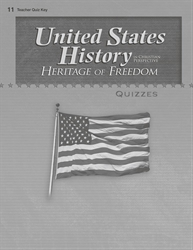 United States History: Heritage of Freedom Quiz Key
