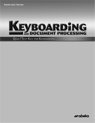 Keyboarding Quiz and Test Key