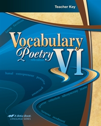 Vocabulary, Poetry VI Teacher Key
