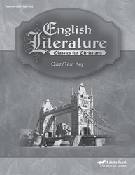 English Literature Quiz and Test Key