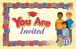K Graduation Invitation/Envelope Style A Children (Package of 25)