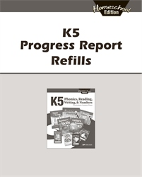 K5 Homeschool Progress Report Refills