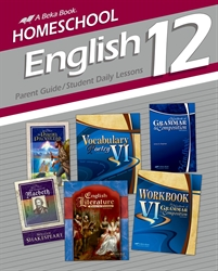 Homeschool English 12 Parent Guide and Student Daily Lessons