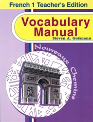 French 1 Vocabulary Manual Teacher Edition