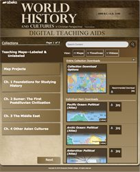 World History and Cultures Digital Teaching Aids