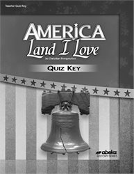 America: Land I Love Quiz Key