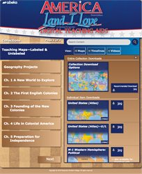 America: Land I Love Digital Teaching Aids