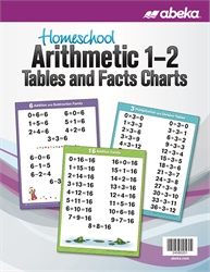 Homeschool Arithmetic 1-2 Tables and Facts Charts—New