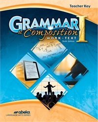 Grammar and Composition I Teacher Key—Revised