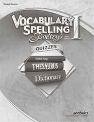 Vocabulary, Spelling, Poetry I Quiz Book—Revised