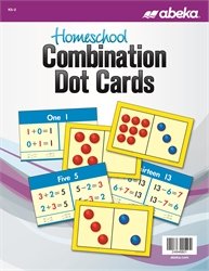 Homeschool Arithmetic Combination Dot Cards—New