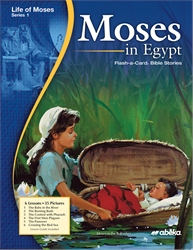 Moses in Egypt Flash-a-Card Bible Stories—New