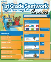 Grade 1 Seatwork Digital Teaching Aids (Cursive)