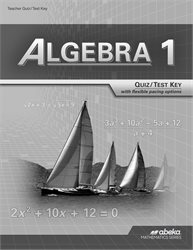 Algebra 1 Quiz and Test Key