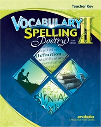Vocabulary, Spelling, Poetry II Teacher Key—Revised