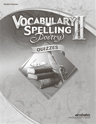 Vocabulary, Spelling, Poetry II Quiz Book—Revised
