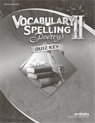 Vocabulary, Spelling, Poetry II Quiz Key—Revised