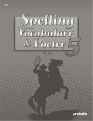 Spelling, Vocabulary,  and Poetry 5 Test Book